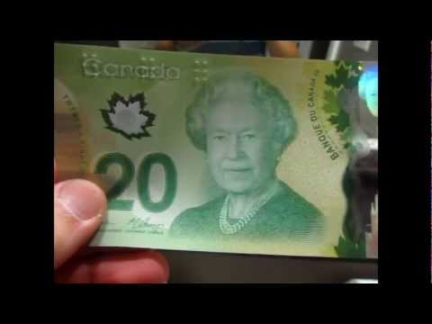 Polymer Banknote - New 20 Canadian Dollars 2012