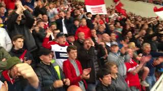 Sheffield United fans angry over disallowed goal run at boro fans lol