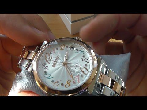 Обзор женских механических часов SEIKO Lukia SSVM018 Svarovski® на браслете.