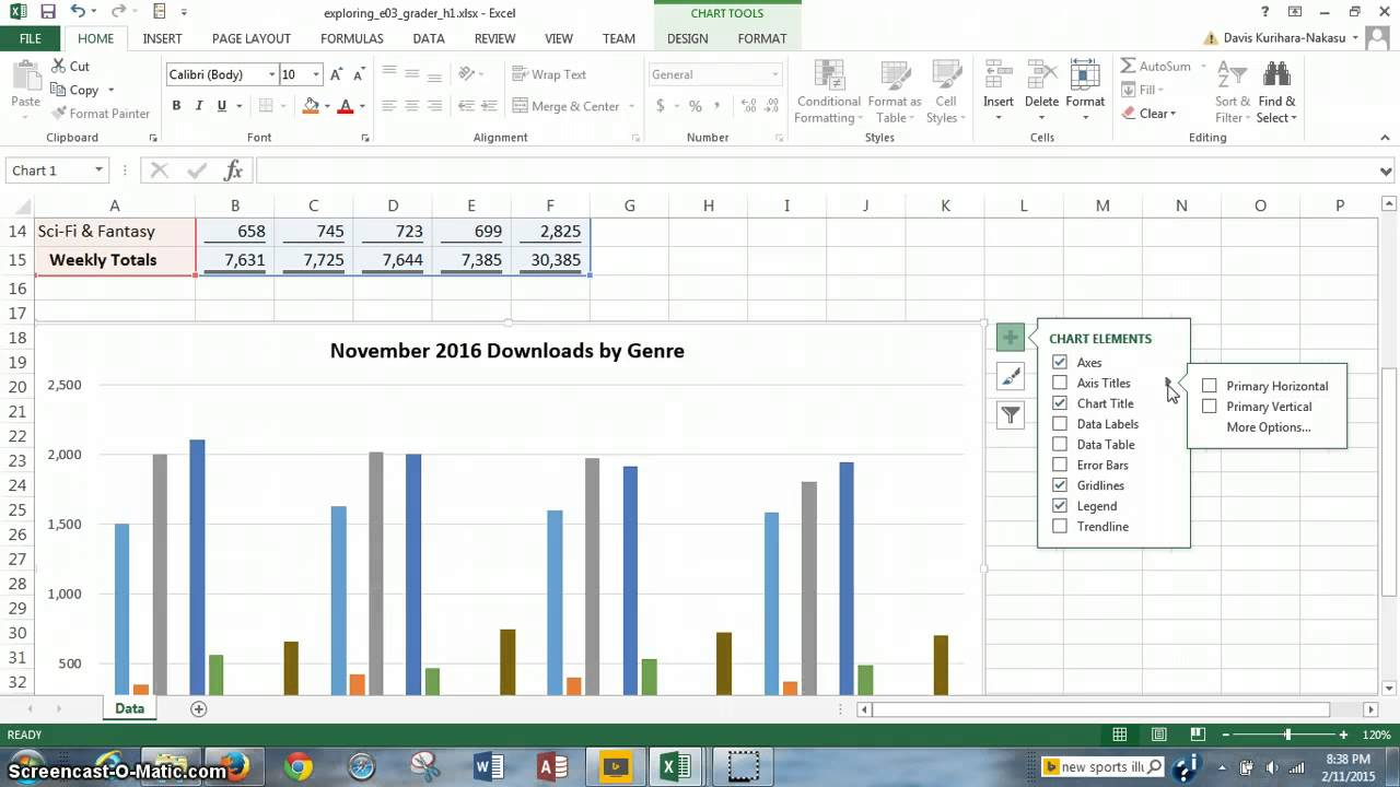 project 3  office 2013 excel chapter 3  visualizing data