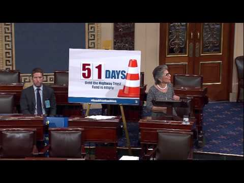 Boxer Speaks on Senate Floor About the Urgent Need to Pass a Long-Term Transportation Bill