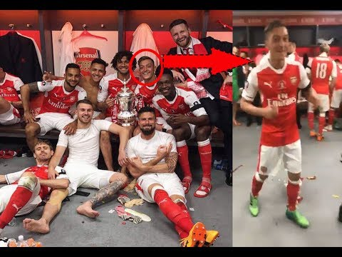 Arsenal Celebrate Dressing Room FA Cup Final Win 2017