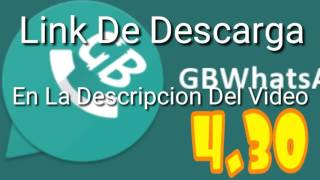 Descargar GB WHATSAPP 2017 Descarga en mega