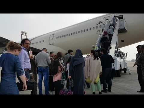 Karachi Airport Airside Boarding Boeing 777 200ER