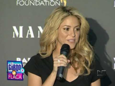 Shakira se ri de pregunta indiscreta