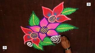 Creative & Simple Navratri Kolam / rangoli Design without using Dots || maitrin 2018