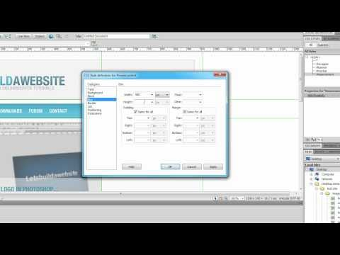 How to make a website in Dreamweaver using Div tags and CSS (part 1)