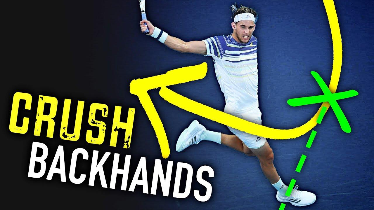 CRUSH Backhands like Thiem (one hander tennis lesson)