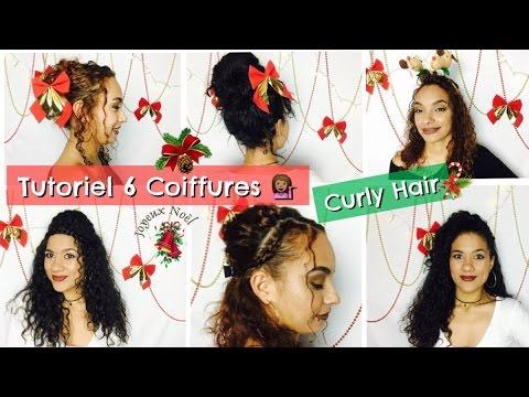 6 Coiffures Pour Noel Et Nouvel An Curly Hair Cheveux Boucles