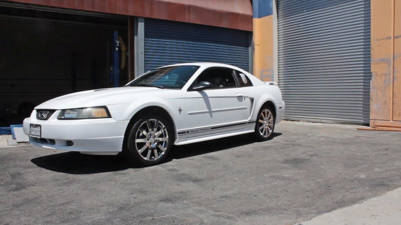 18x8 Chrome Katana Kp1 Wheels On 2002 Ford Mustang Youtube