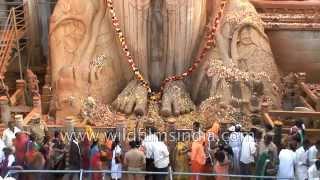 Bahubali puja during Mahamastak Abhisheka Festival - Karnataka