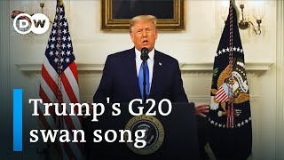Trump slams Paris Climate Accord in his last G20 appearance | G20 Riyadh