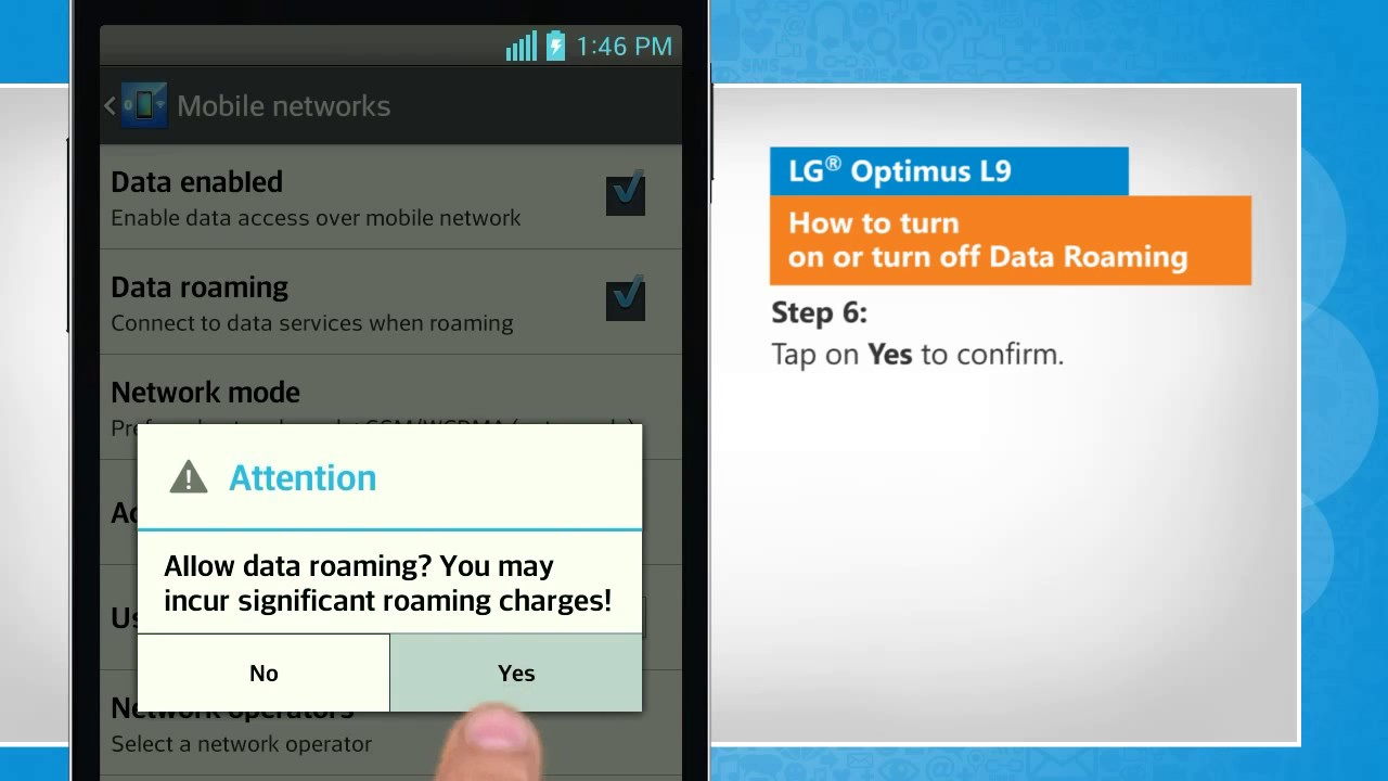 How To Turn On Or Turn Off Data Roaming In Lg� Optimus L9