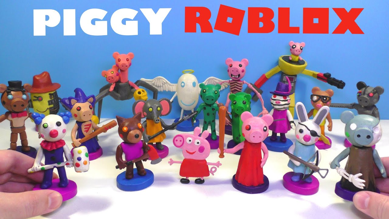Roblox Piggy Characters with Clay - My collection