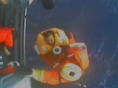 Raw: Coast Guard Rescues 5 From Damaged Sailboat