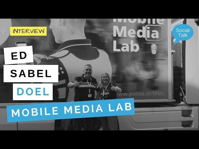 Wat is het doel van het Mobile Media Lab van de politie