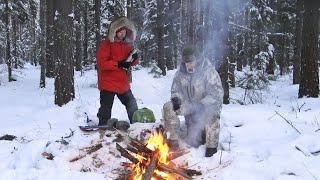 32С Поход в лес зимой в мороз Первый поход 2021