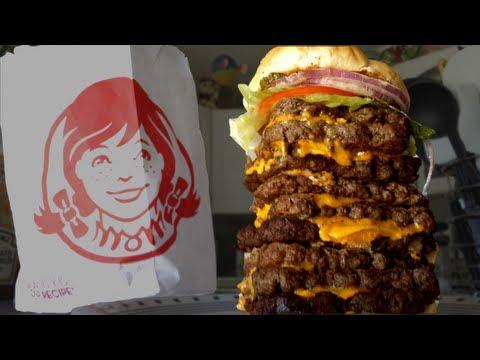 Wendy's T-Rex Burger Challenge (vs Wreckless Eating)