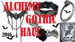 ALCHEMY GOTHIC HAUL 2016 - Necklace, Bracelet, Ring and Hairclip