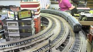 Joe F O-scale 3rd Avenue Elevated Layout with IRT train