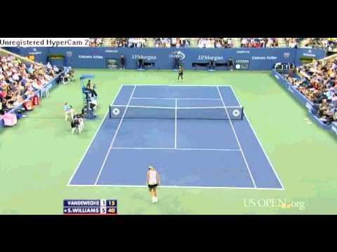 Serena Williams vs Coco Vandeweghe Highlights US OPEN 2012