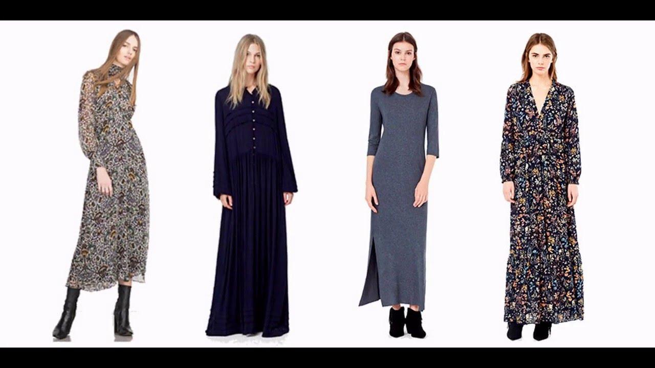 Como combinar vestidos largos casuales
