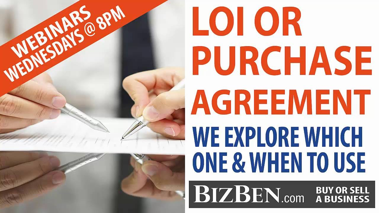 Letter of intent lois vs purchase agreement which one when letter of intent lois vs purchase agreement which one when buying and selling a business youtube platinumwayz