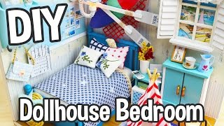 DIY Miniature Dollhouse Kit Cute Bedroom Roombox with Working Lights! / Relaxing Crafts