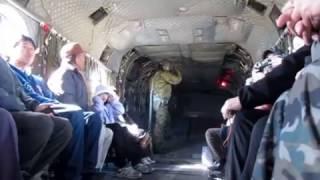 平成29年3月4日 相馬原飛行場でのチヌーク体験搭乗会での 離陸の様子です。