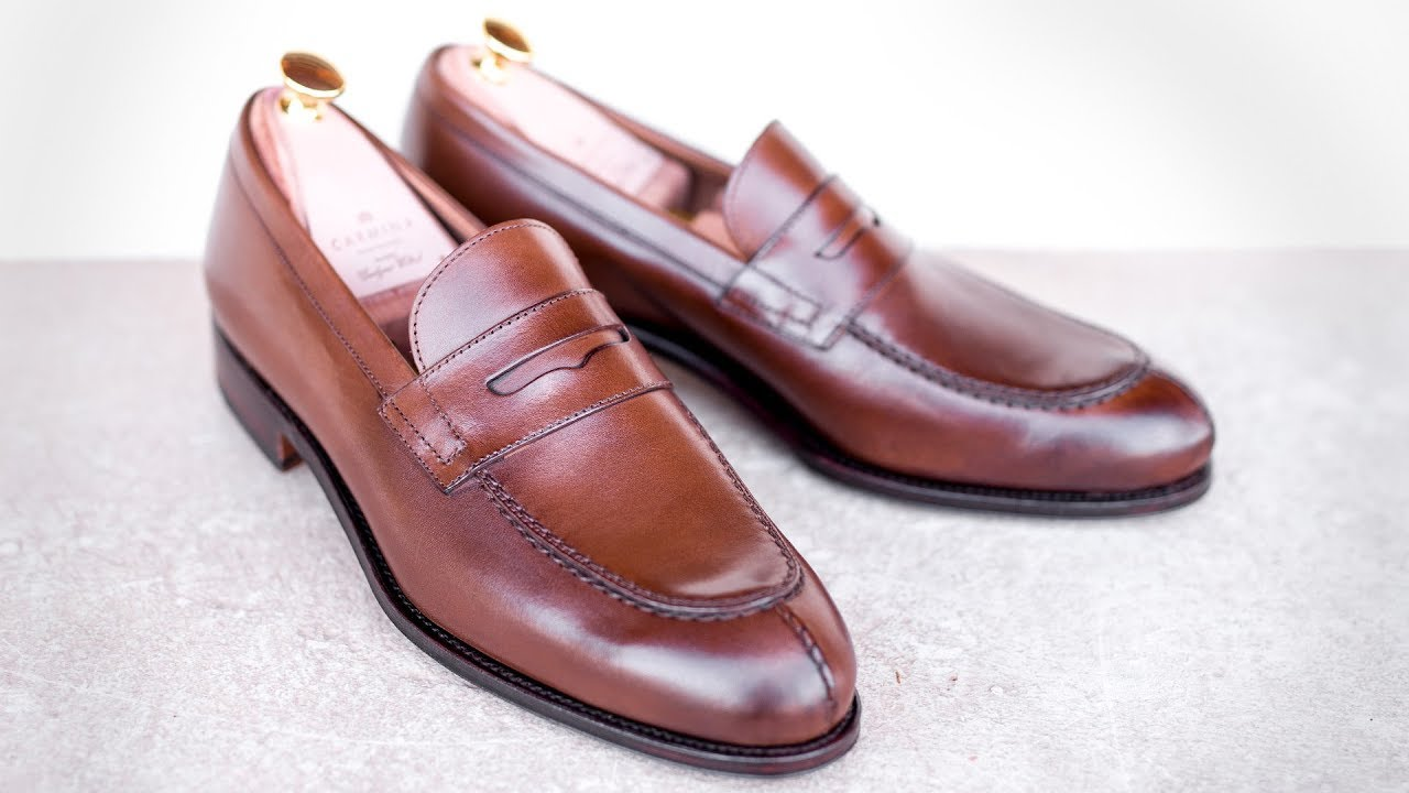 c82bba694d2 PENNY LOAFERS IN BROWN VEGANO 923 FOREST · Carmina Shoemaker - YouTube