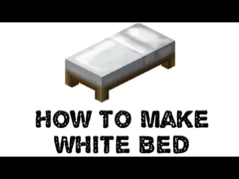 How To Make White BED On Minecraft PE..