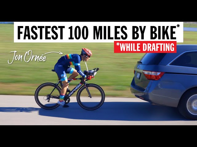 Fastest 100 Miles By Bike (While Drafting)