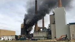 Feuer im Kraftwerk Veltheim