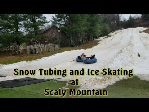 Snow Tubing and Ice Skating at Scaly Mountain Outdoor Center in North Carolina - December 2017