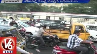 Hyderabad Metro Works On Nampally To Assembly Road Causing Traffic Snarls | V6 News
