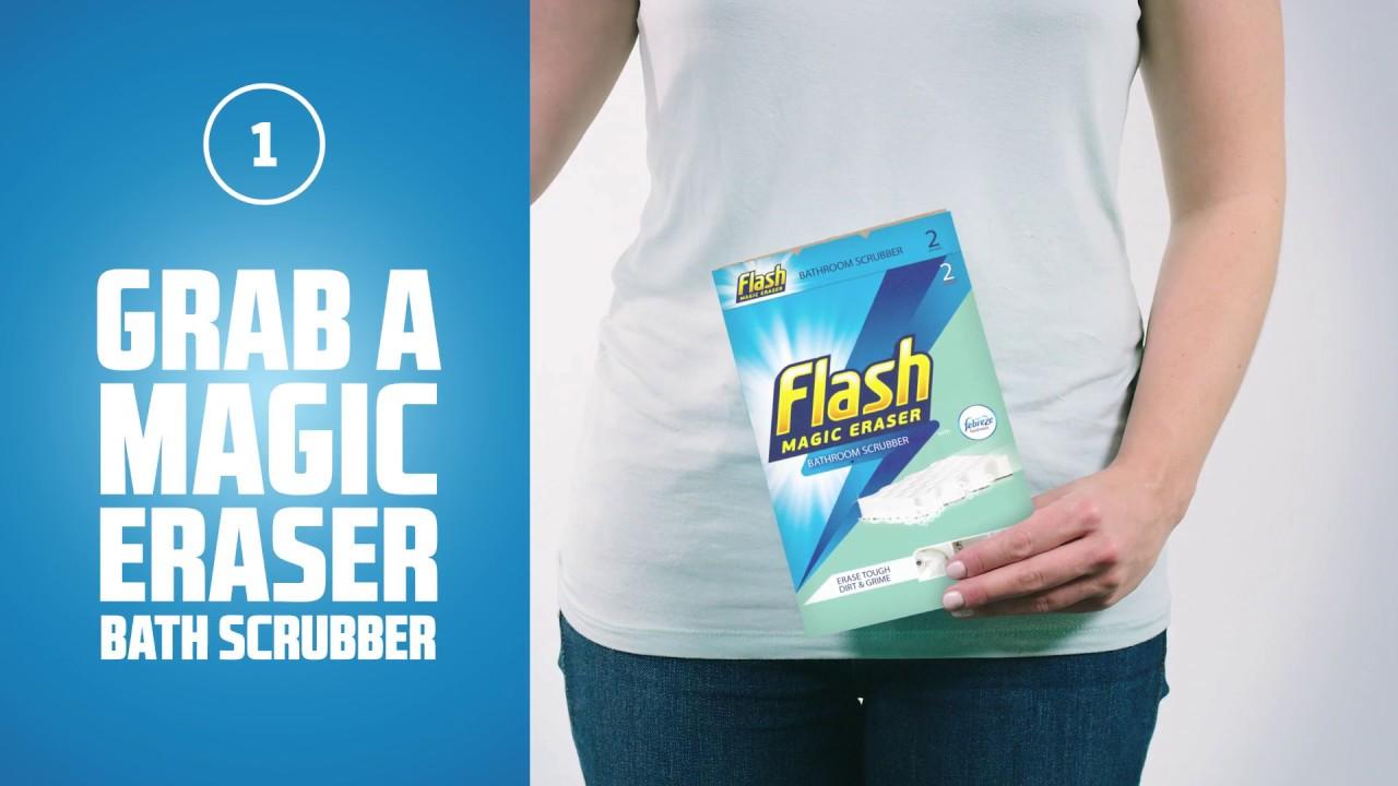 how to clean a bathtub flash magic eraser youtube. Black Bedroom Furniture Sets. Home Design Ideas