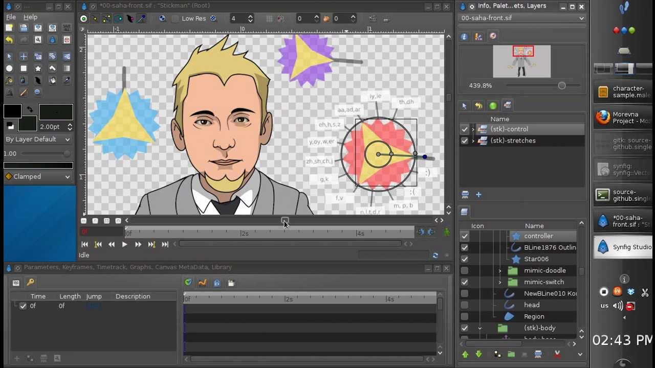 synfig character template - tutorial  part 1