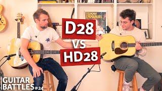 Martin D28 vs Martin HD28!   Guitar Battles #24   @ TFOA