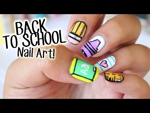 BACK TO SCHOOL Nail Art ♥ 5 Easy Designs Part 1