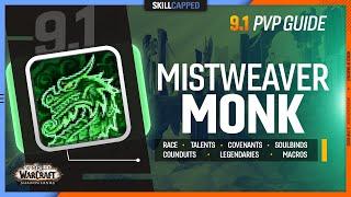MISTWEAVER MONK 9.1 PvP Guide | Best Race, Talents, Covenants, Soulbinds, Conduits, Gear & Macros