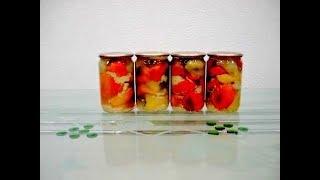 Болгарский  Перец запечённый в духовке на зиму ★ Заготовки запечённого сладкого  перца