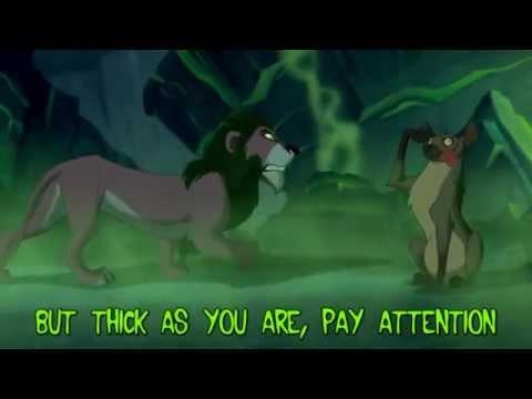 The Lion King - Be Prepared (Sing-Along Lyrics)