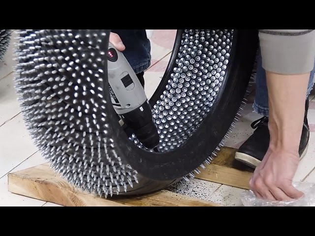 Making Diy Studded Tires Is Mesmerizing To Watch Still A Bad Idea