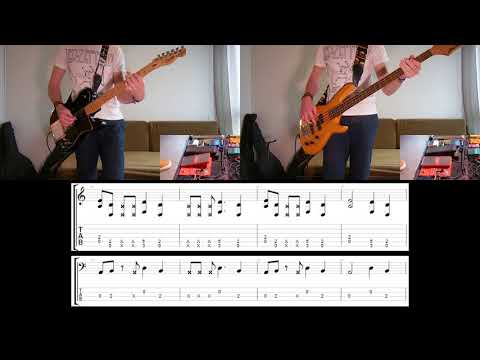Rage Against The Machine - Calm Like A Bomb Guitar & Bass cover with tabs