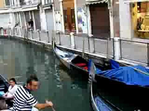 Singing Gondolier Venice