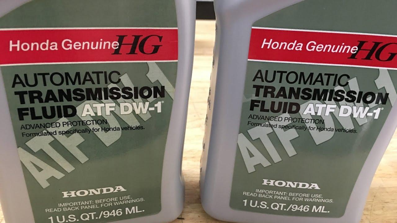 2007 Honda Pilot Transmission fluid drain and refilll - YouTube