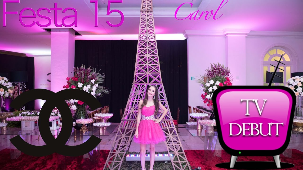 Decoracoes Para Festas 15 Anos: Festa 15 Anos Carol Tema Chanel