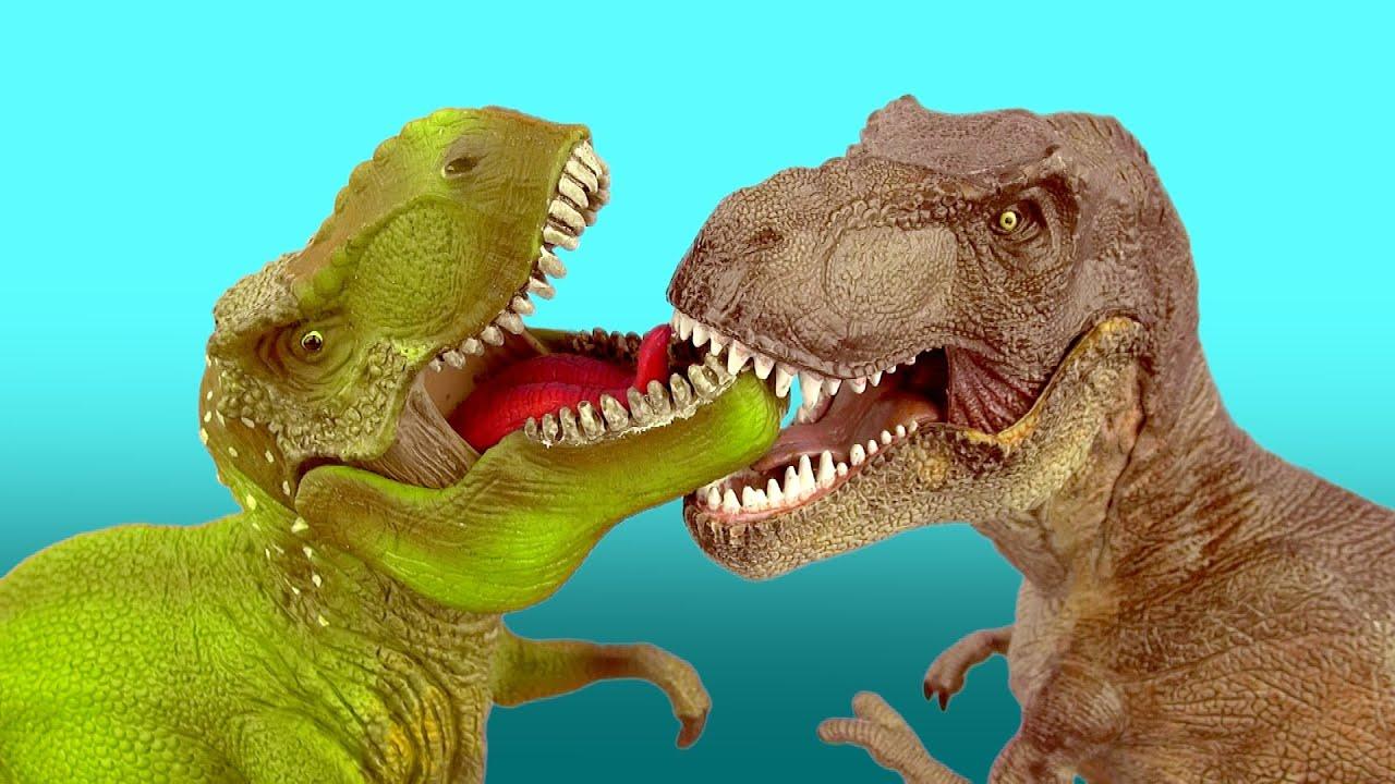 Dinosaur Fight T REX vs TYRANNOSAURUS Battle 공룡 싸움 ... T Rex Vs Triceratops Fighting