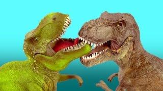 Dinosaur Fight  T REX vs TYRANNOSAURUS Battle 공룡 싸움 ไดโนเสาร์ SuperFunReviews