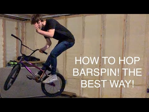 How To Hop Barspin Bmx!! (easiest Unique Way)